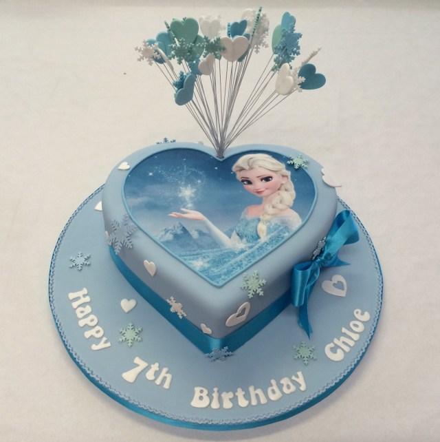 Elsa Birthday Cakes Heart Shaped Frozen Cake Girls Birthday Cakes Celebration Cakes