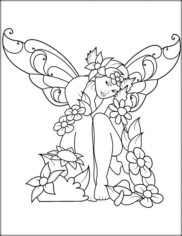 Fairy Coloring Page Coloring Page Coloring Page Approved Fairy Colouring In Colour