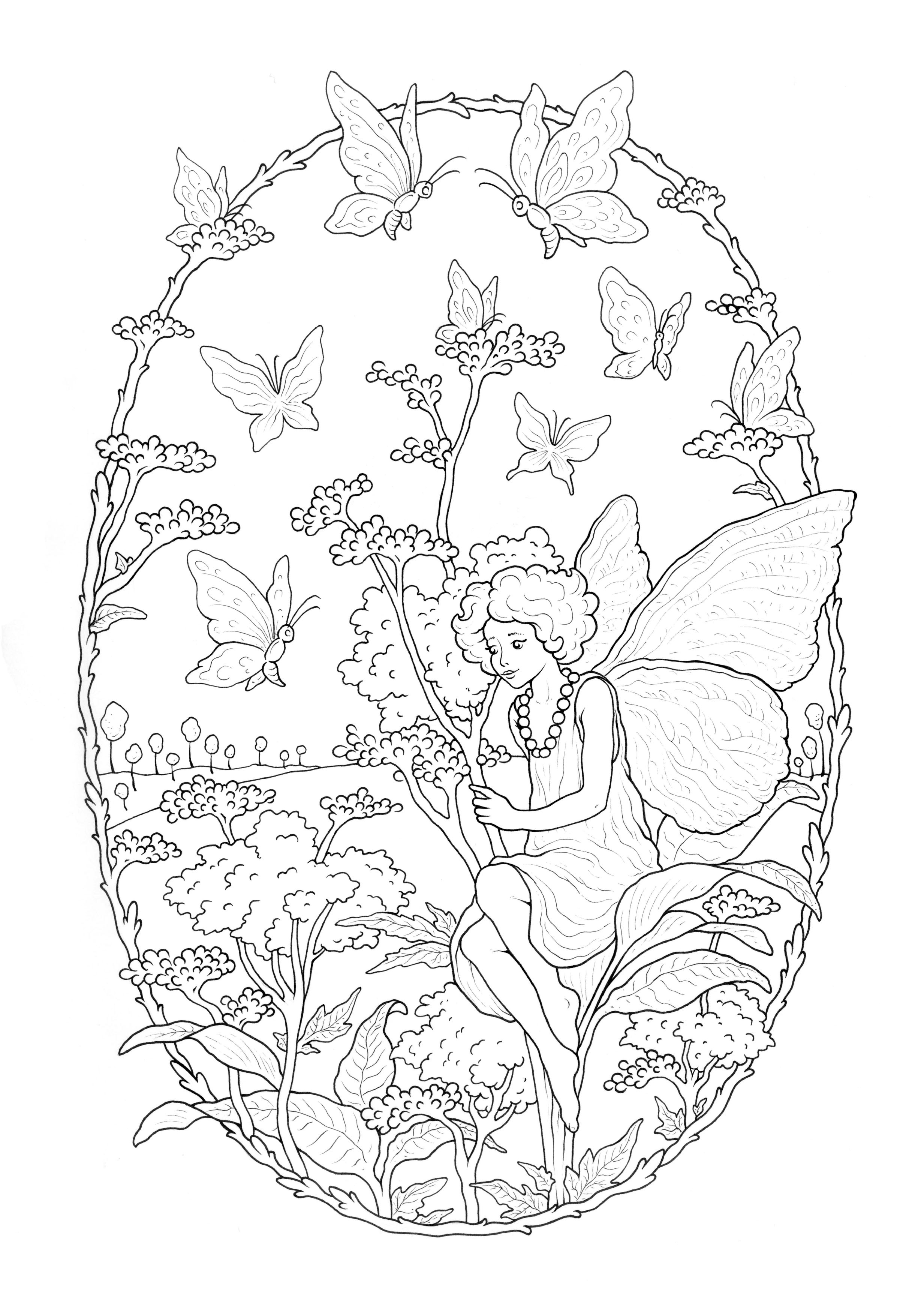 Fairy Coloring Page Fairy Free To Color For Children Fairy Kids Coloring Pages