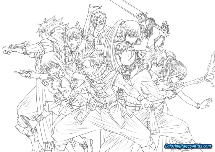 25+ Inspiration Photo of Fairy Tail Coloring Pages