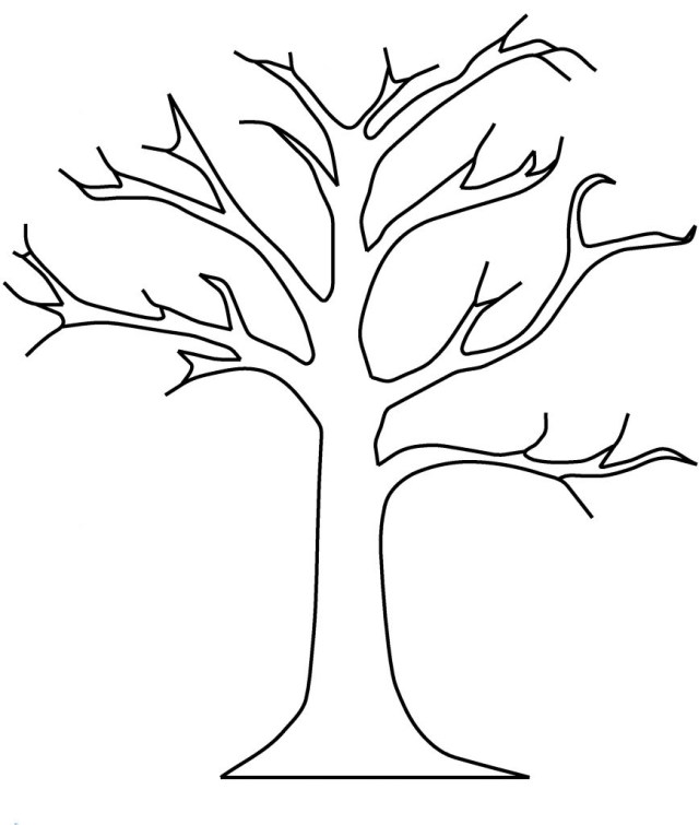 Fall Tree Coloring Pages Collection Free Autumn Tree Coloring Pages Pictures Sabadaphnecottage