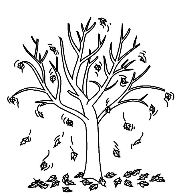 Fall Tree Coloring Pages Fall Tree Printable Free Coloring Pages On Art Coloring Pages