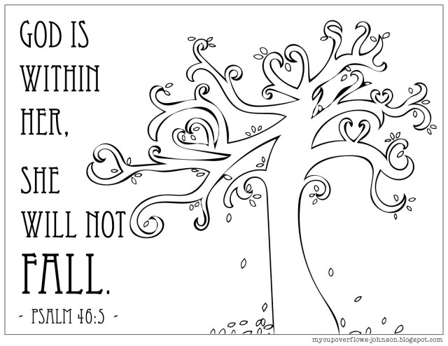 Fall Tree Coloring Pages My Cup Overflows Coloring Pages For Fall