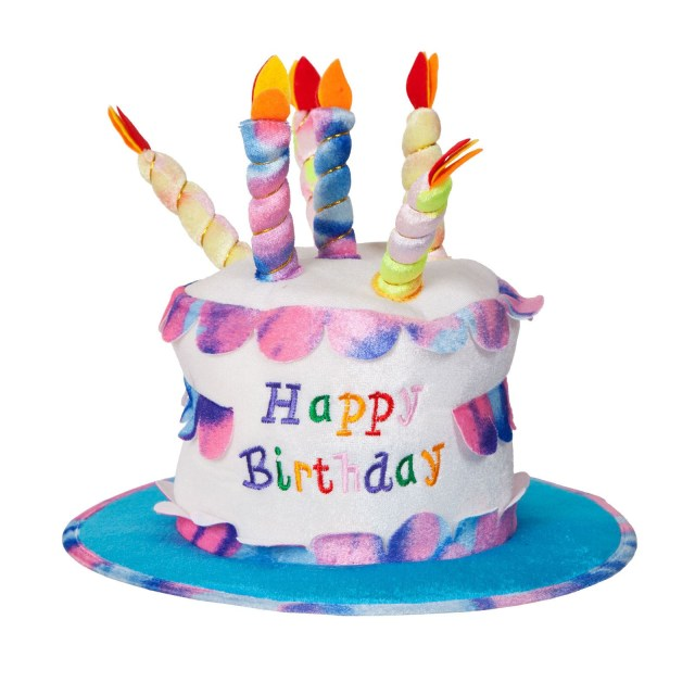 Fancy Birthday Cake Adult Happy Birthday Cake Hat With Candles Fancy Dress Party
