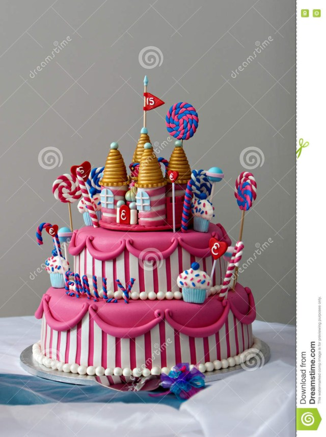 Fancy Birthday Cake Birthday Cake Stock Image Image Of Frosting Frosted 69701463