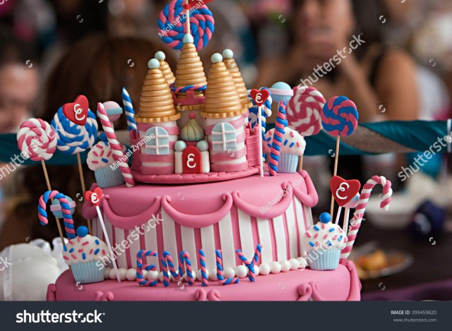 Fancy Birthday Cake Fancy Birthday Cake Candyland Theme Three Stock Photo Edit Now