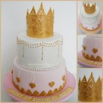 Fancy Birthday Cake Fancy Princess Crown 1st Birthday Cake Cakecentral