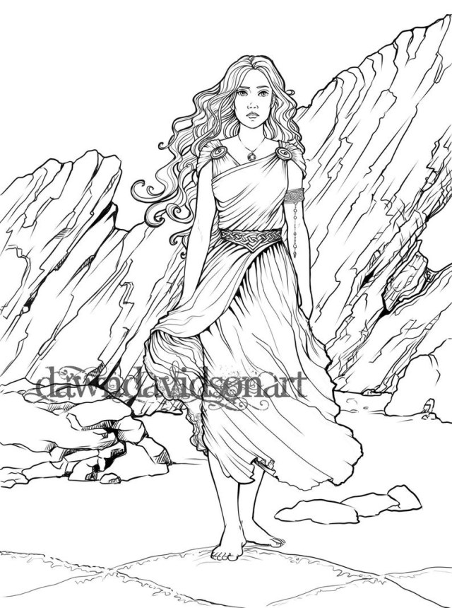 Fantasy Coloring Pages Adult Coloring Page Fantasy Coloring Celtic Coloring Page Etsy
