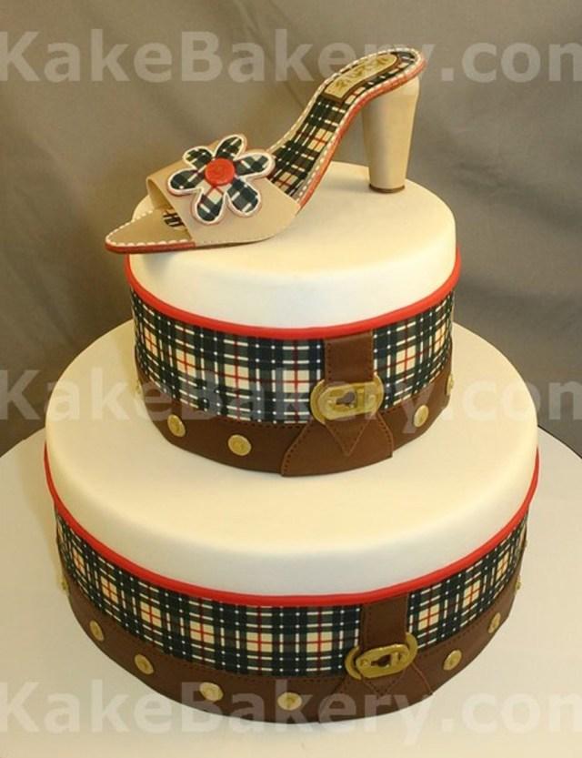 Fashion Birthday Cake Burberry Bag Inspired Fashion Birthday Cake Cakecentral
