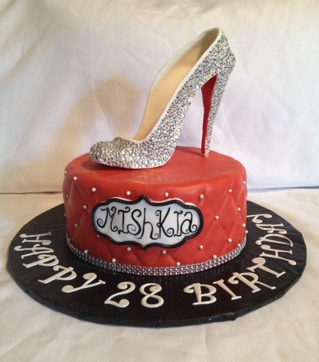Fashion Birthday Cake Christian Louboutin Replica In Sugar Red Carpet High Fashion