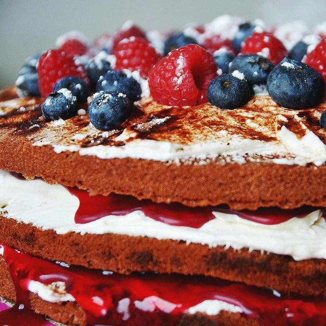 Fashion Birthday Cake Food Berry Birthday Cake Lookslikeperfect Fashion