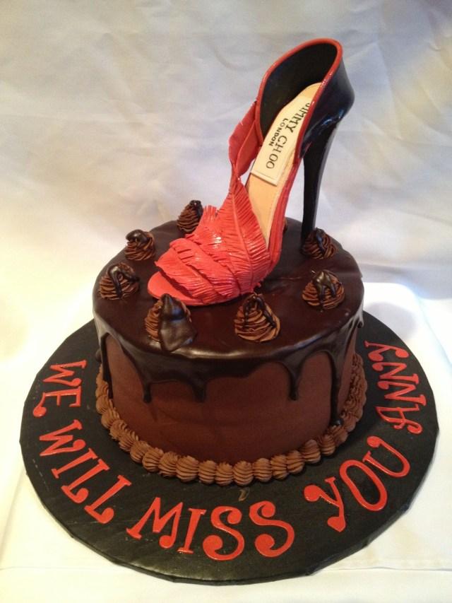 Fashion Birthday Cake High Fashion Birthday Cake Jimmy Choo Shoes Red Carpet Event Hand