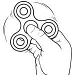 Fidget Spinner Coloring Page Fidget Spinner Coloring Pages Spinning K5 Worksheets