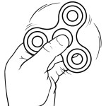 Fidget Spinner Coloring Page Fidget Spinner With Hand Coloring Pages Printable