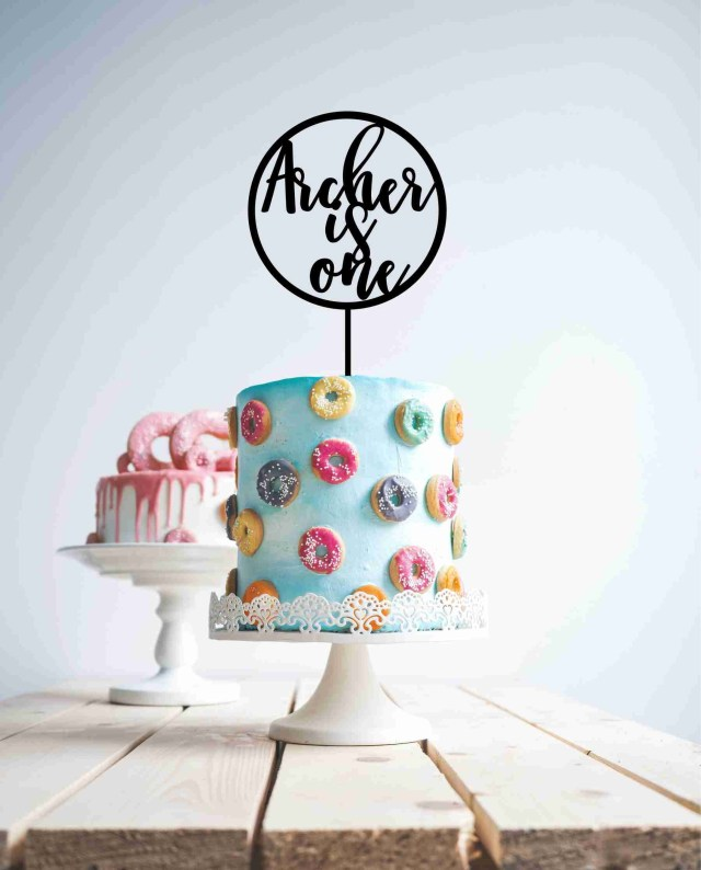 First Birthday Cake Topper First Birthday Cake Topper Is One Cake Topper One Cake Topper Etsy