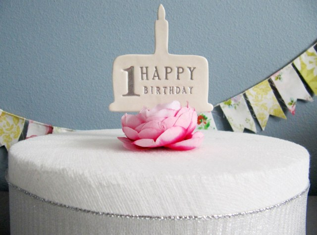 First Birthday Cake Topper Susabella 1st Birthday Cake Topper In Silver Gold Blue Pink