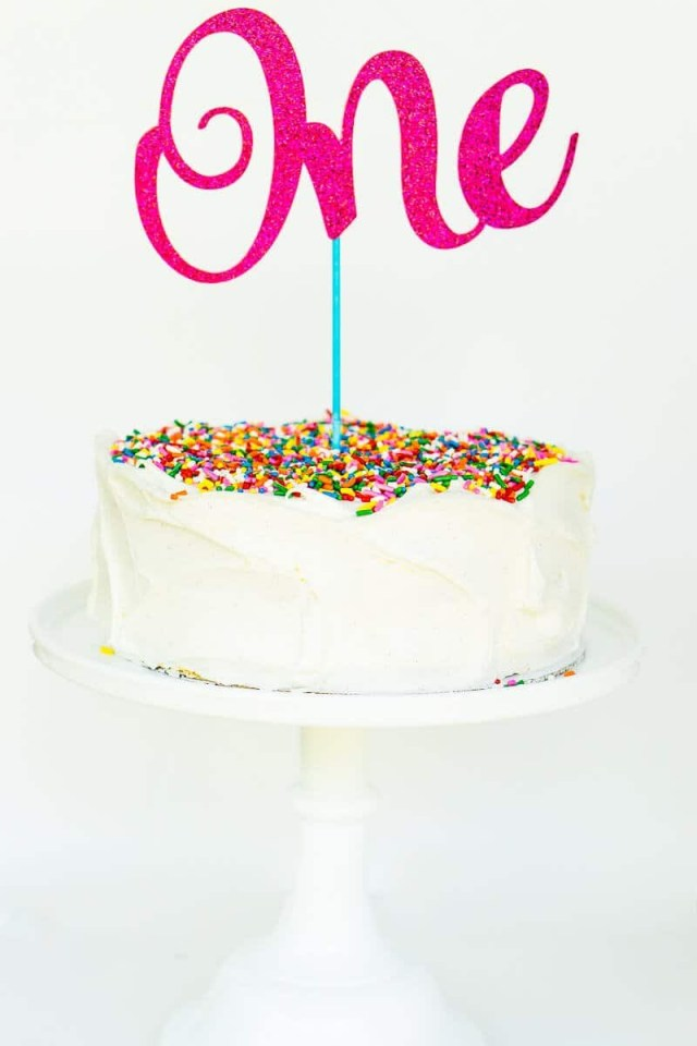 First Birthday Cake Topper The Easiest Custom Birthday Cake Toppers Youll Ever Make