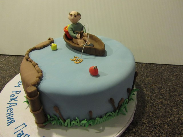 Fishing Birthday Cakes 50 And Fishing Birthday Cake Cakes Pastry Shop Cocoa Bakery
