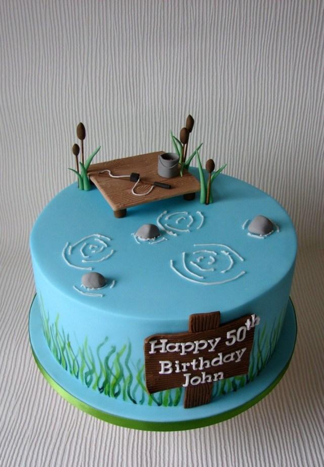 Fishing Birthday Cakes Johns Fishing Themed Birthday Cake Cupcakes Cake Birthday Cake