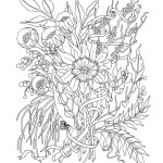 Flower Adult Coloring Pages Advanced Trend Elegant Flowers Adult Coloring Pages Coloring Pages