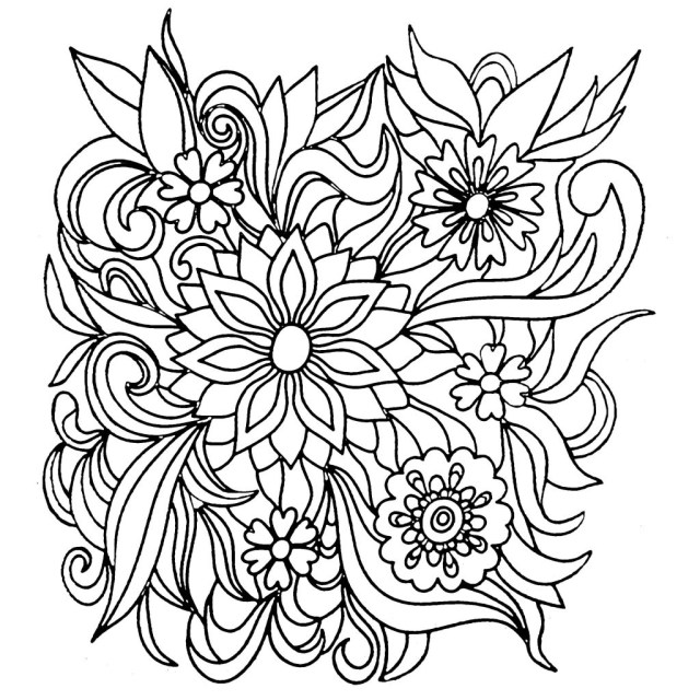 Flower Adult Coloring Pages Coloring Pages Marvelous Coloring Bookes Of Flowers Photo