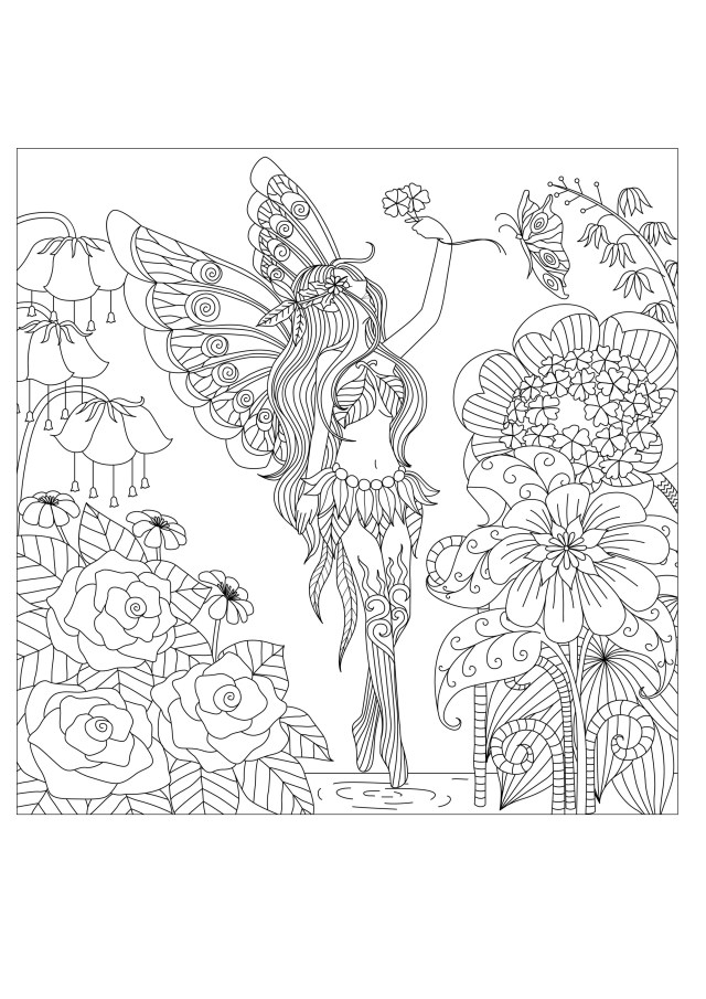 Flower Adult Coloring Pages Coloring Sheets For Adults Flowers Ps25 Flowers Queen Flowers