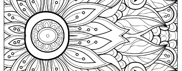 Flower Adult Coloring Pages Flower With Many Petals Flowers Adult Coloring Pages