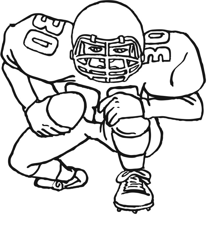 Best Picture of Football Coloring Page
