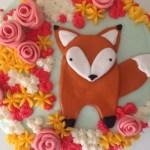 Fox Birthday Cake Afton Turns 1 A Fox In The Flowers Carrot Creamcarrot Cream