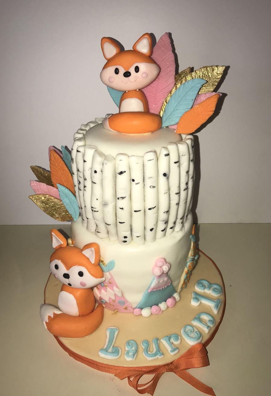 Fox Birthday Cake Fox Birthday Cake Cakecentral