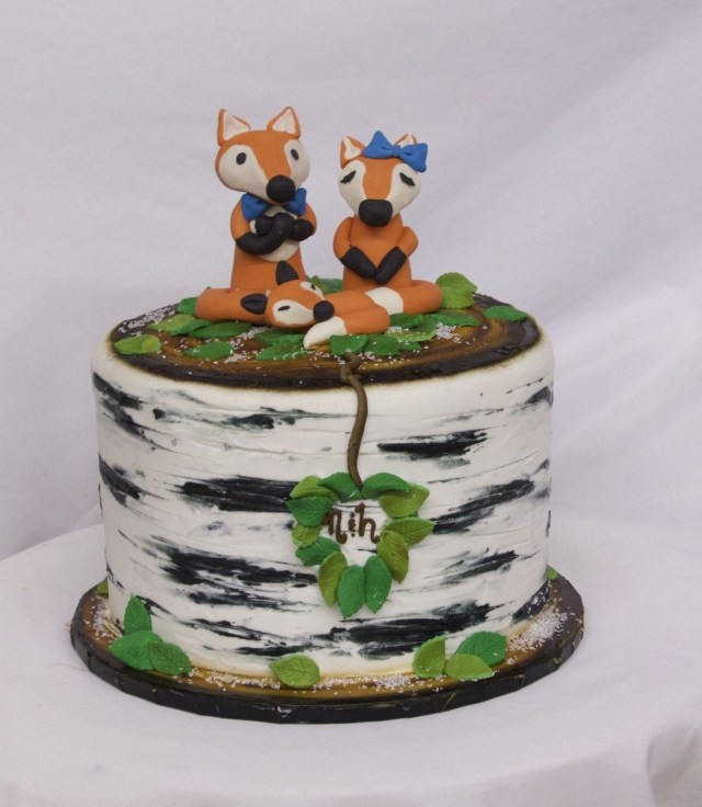 Fox Birthday Cake Fox Family Tree Birthday Cake From Cinottis Bakery