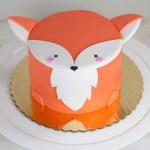 Fox Birthday Cake Fox Mini Animal Cake