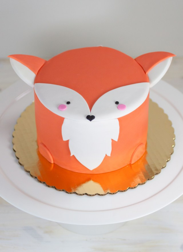 Fox Birthday Cake Fox Mini Animal Cake