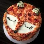 Fox Birthday Cake I Made A Fox Rosette Cake Is The New Baking