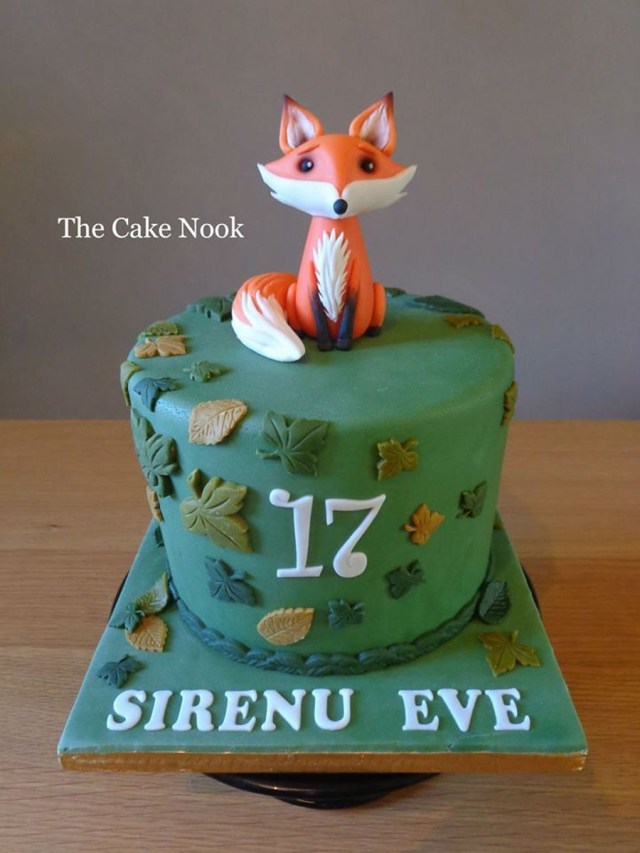 Fox Birthday Cake Woodland Fox Cake Cakecentral