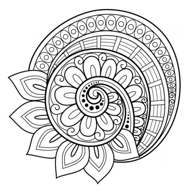 Free Mandala Coloring Pages Flower Mandala Coloring Pages Page Free Blossoms Engraving Ideas 910