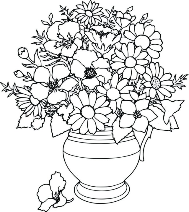 Free Printable Flower Coloring Pages Coloring Pages Flower Coloring Pages Uniquecoloringpages Free