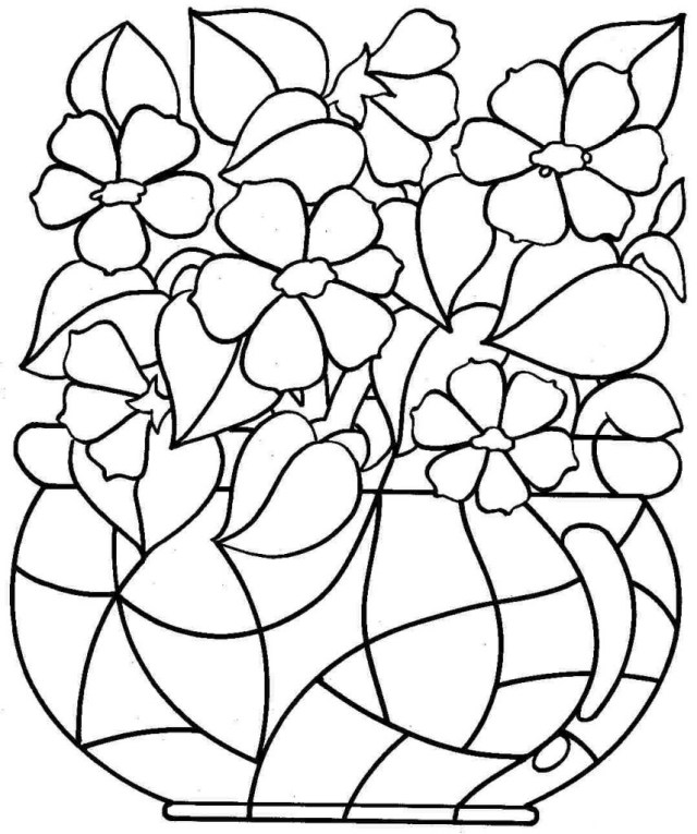 Free Printable Flower Coloring Pages Flower Coloring Pages To Print At Getdrawings Free For
