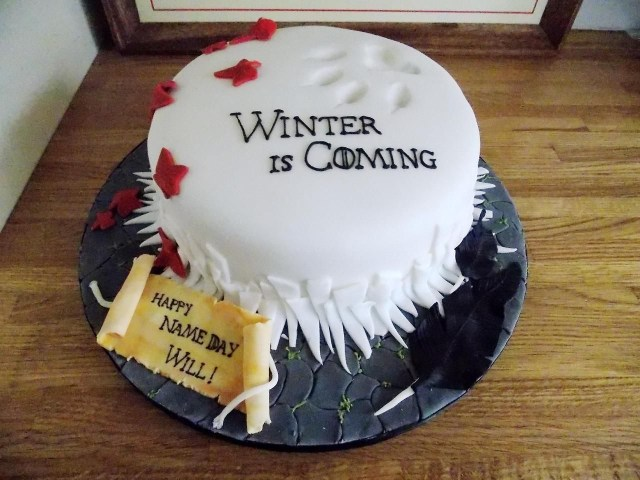 Game Of Thrones Birthday Cake Game Of Thrones Cake House Stark Wow Game