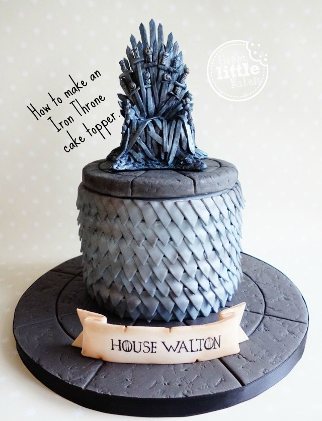 Game Of Thrones Birthday Cake How To Make A Game Of Thrones Iron Throne Cake Topper Occasion
