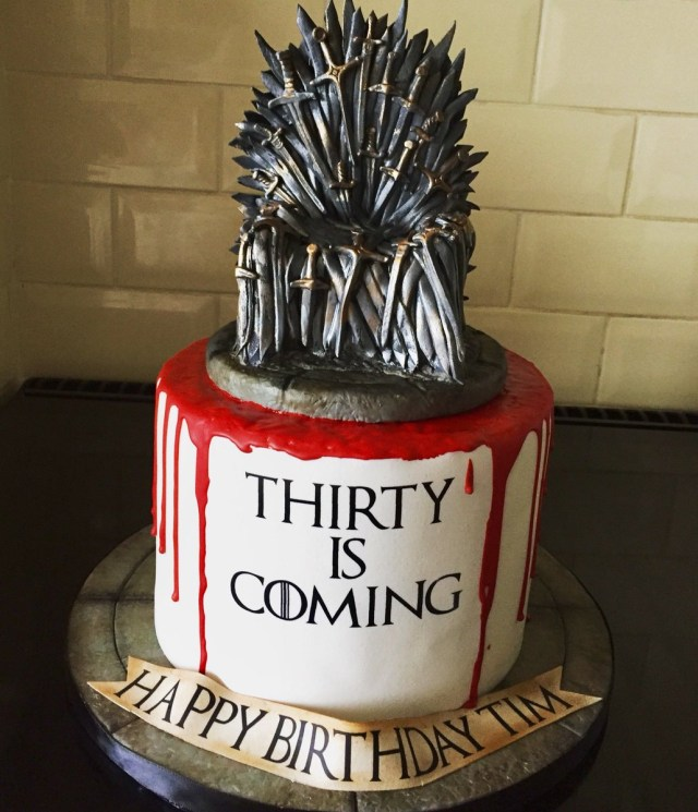 Game Of Thrones Birthday Cake Sarah Phillips On Twitter Game Of Thrones 30th Birthday Cake For