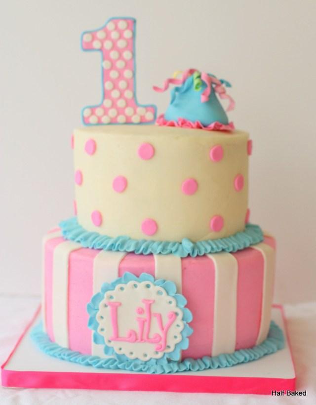 Girls Birthday Cake Fabulous 1st Birthday Cake For Ba Girls
