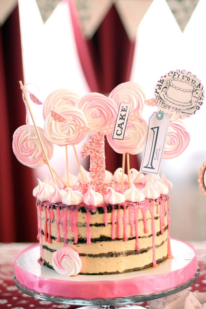 Girls First Birthday Cake 1st Birthday Diy Party Ideas And Crafting For Your Ba Girl The