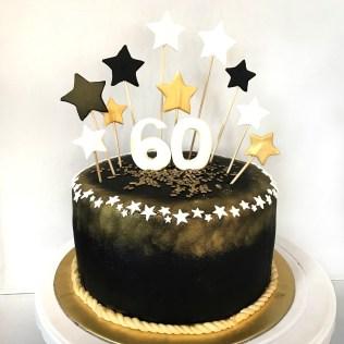 Gold Birthday Cake Black And Gold 60th Birthday Cake Sherbakes