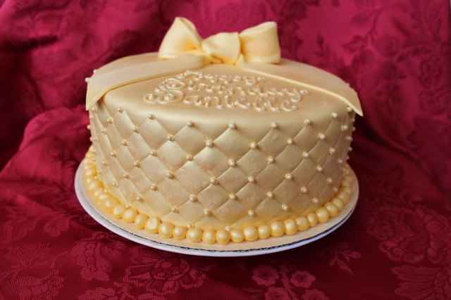 Gold Birthday Cake Cake Flair Golden Birthday Cake
