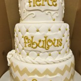 Gold Birthday Cake Cakes Mindy Gold And White 40th Birthday Cake 6 8 10