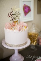 Gold Birthday Cake Modern Pink And Gold Birthday Cake Cakes Pinterest Birthday