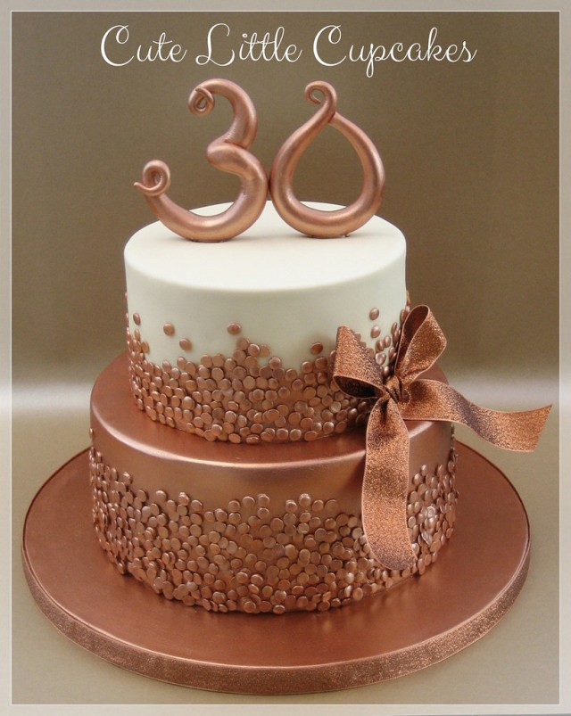 Gold Birthday Cake Rose Gold 30th Birthday Cake Heidi Stone Flickr