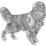 Golden Retriever Coloring Page Golden Retriever Zentangle Coloring Page Free Printable Coloring Pages