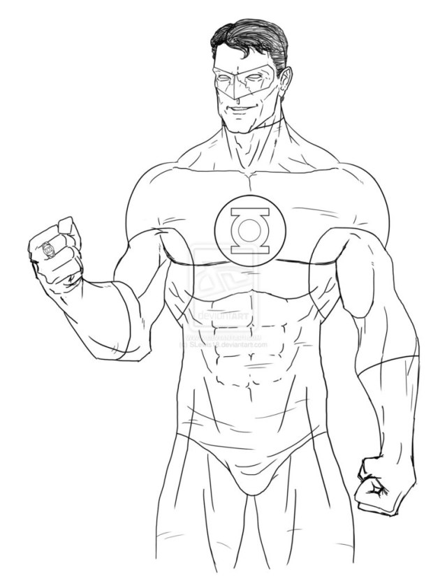 Green Lantern Coloring Pages Green Lantern Coloring Pages Luxury Sheets Throughout Bertmilne